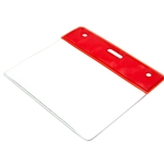 red top plastic landscape id card wallet