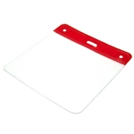 red top plastic visitor badge wallet to fit visitor and contractor badges in landscape profile